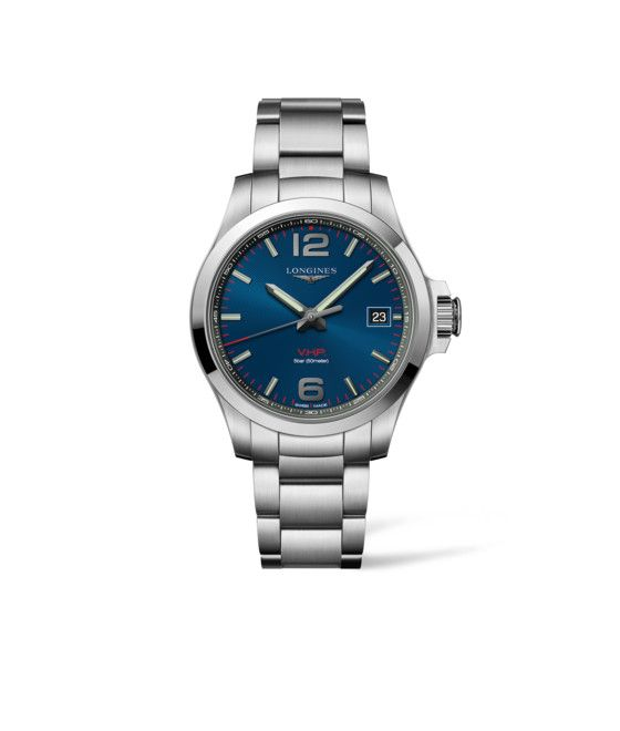 41.00 mm Stainless steel case with Blue carved dial and Stainless steel strap