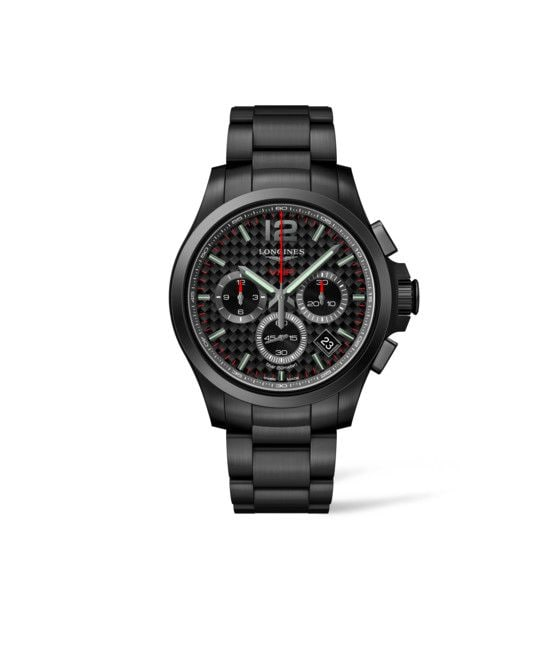 42.00 mm Black PVD coating case with Black carbon dial and Black PVD coating strap