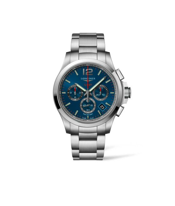 42.00 mm Stainless steel case with Blue carved dial and Stainless steel strap