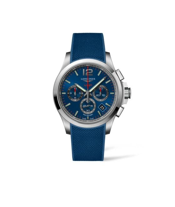 42.00 mm Stainless steel case with Blue carved dial and Rubber strap Blue strap