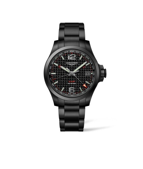 41.00 mm Black PVD coating case with Black carbon dial and Black PVD coating strap