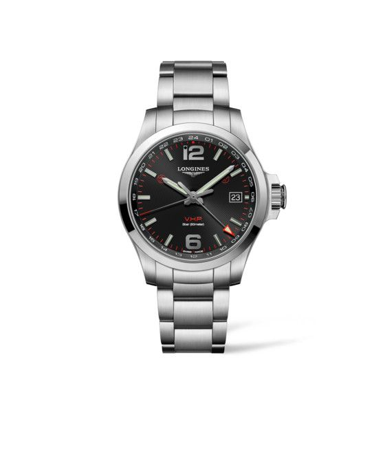 41.00 mm Stainless steel case with Black carved dial and Stainless steel strap