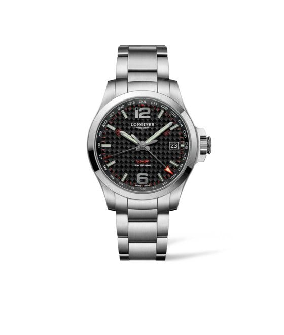 41.00 mm Stainless steel case with Black carbon dial and Stainless steel strap