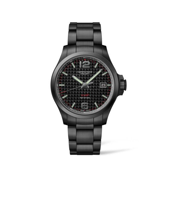 43.00 mm Black PVD coating case with Black carbon dial and Black PVD coating strap