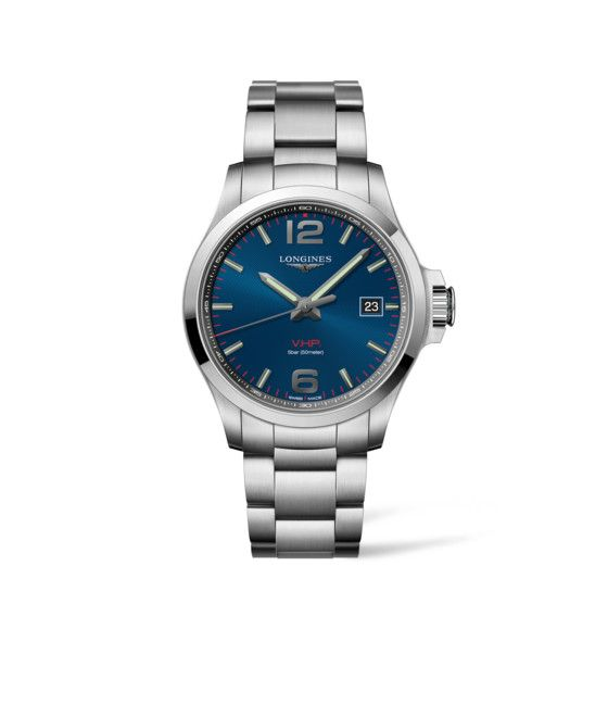 43.00 mm Stainless steel case with Blue carved dial and Stainless steel strap