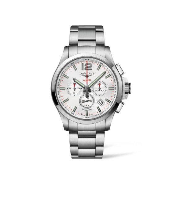 44.00 mm Stainless steel case with Silver carved dial and Stainless steel strap