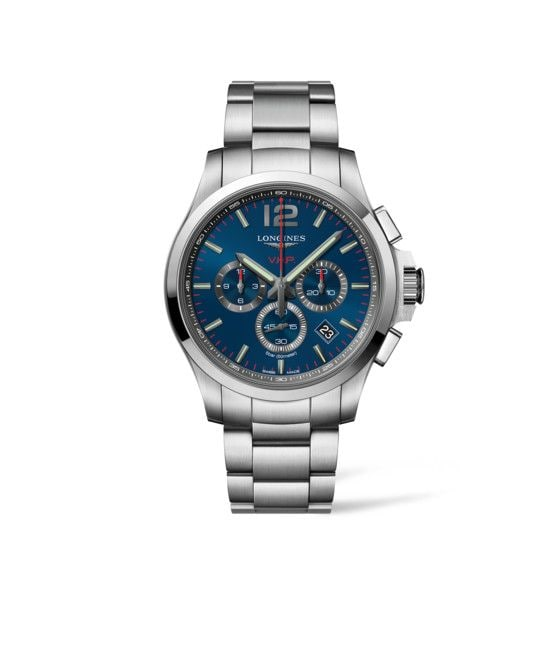 44.00 mm Stainless steel case with Blue carved dial and Stainless steel strap