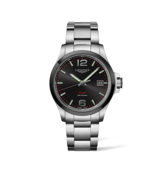 43.00 mm Stainless steel and ceramic bezel case with Black carved dial and Stainless steel strap