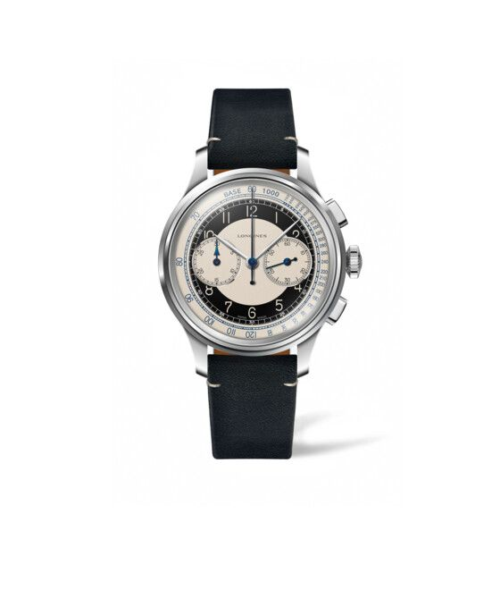 40.00 mm Acier case with Argenté dial and Bracelet cuir Noir strap