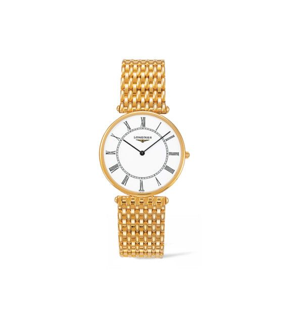 33.00 mm Or jaune 18 carats case with Blanc mat dial and Or jaune 18 carats strap