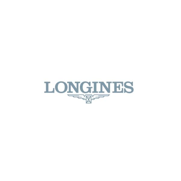 "23.30 X 37.00 mm Stainless steel with 18 karat pink gold crown case with Silver ""flinqué"" dial and"