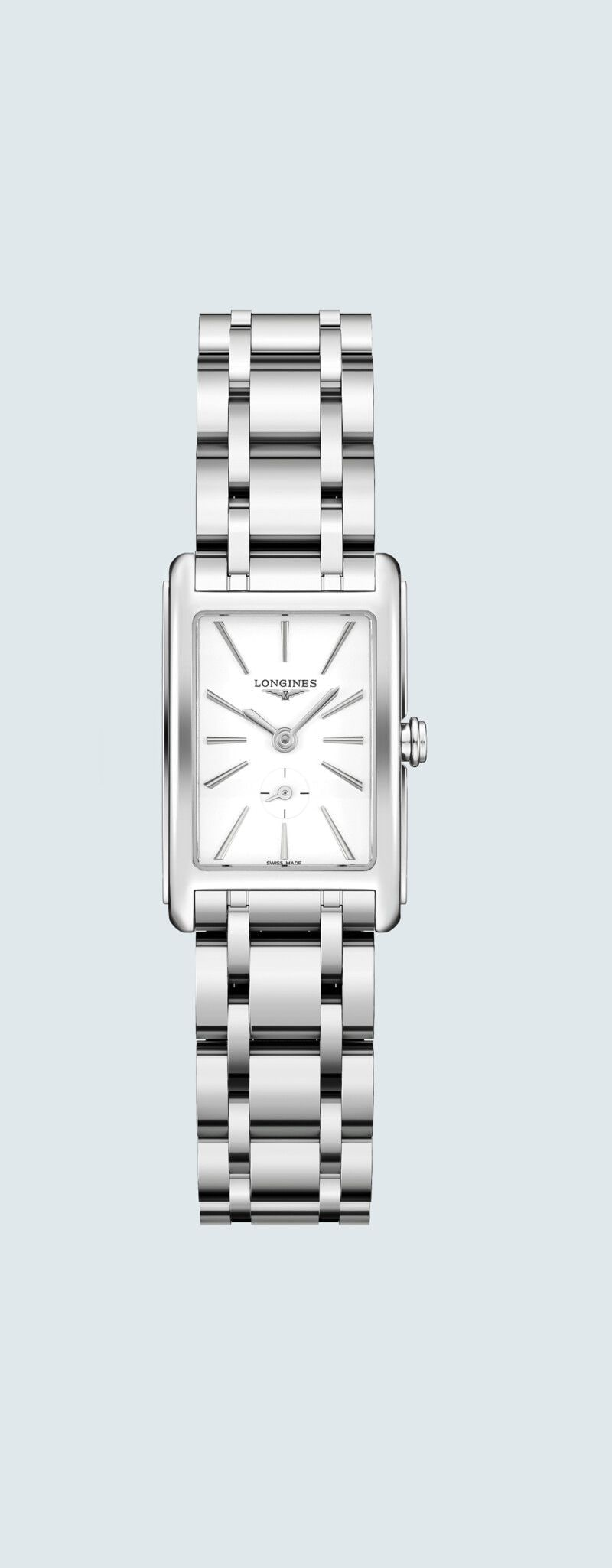 20.80 X 32.00 mm Stainless steel case with White matt dial and Stainless steel strap - case zoom vi