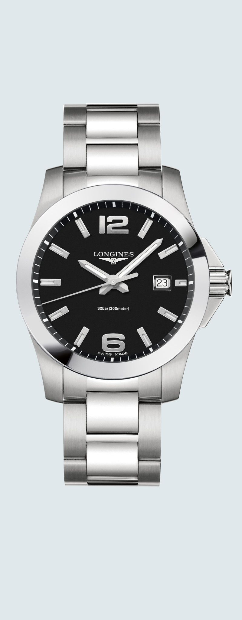 41.00 mm Stainless steel case with Black lacquered polished dial and Stainless steel strap - case z