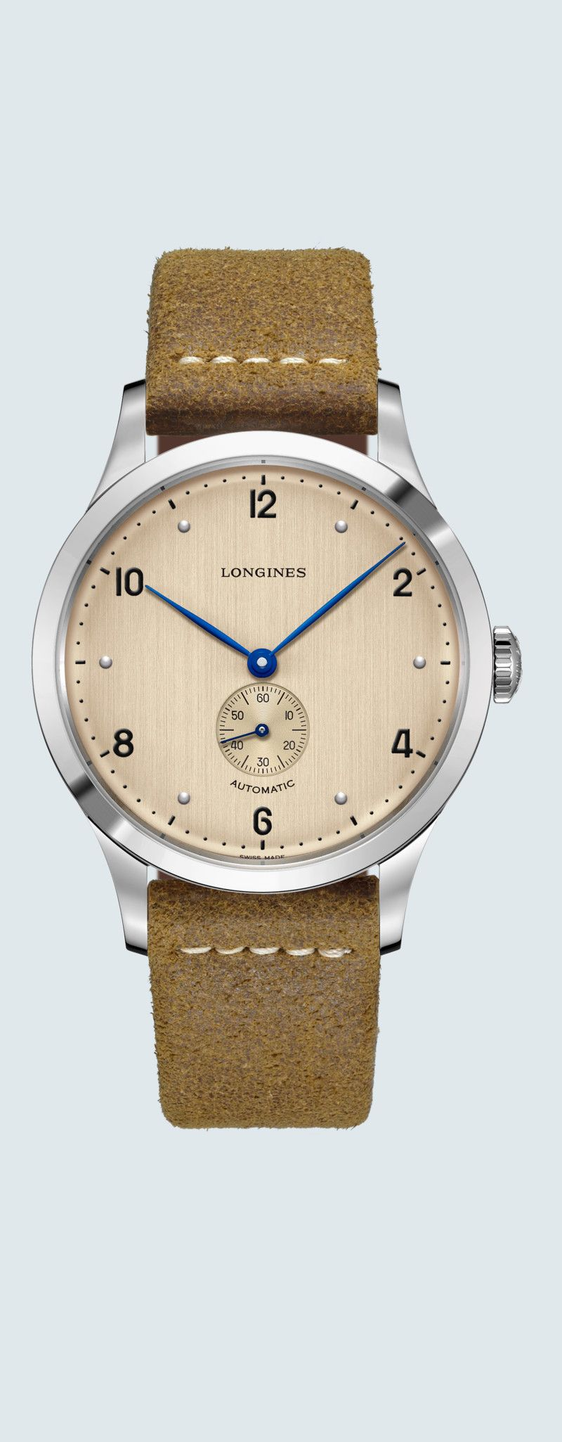 40.00 mm Stainless steel case with Copper dial and Leather strap Beige strap - case zoom view