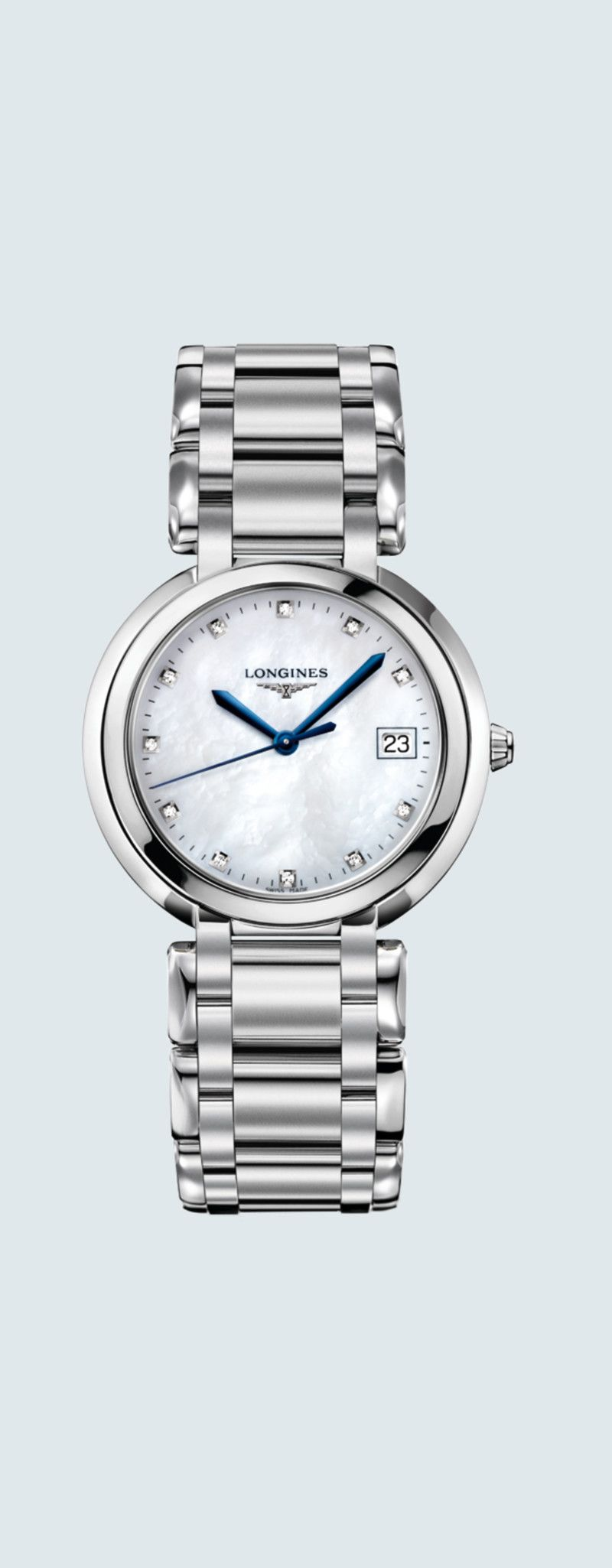 34.00 mm Acciaio inossidabile case with Madreperla bianca dial and Acciaio inossidabile strap - cas