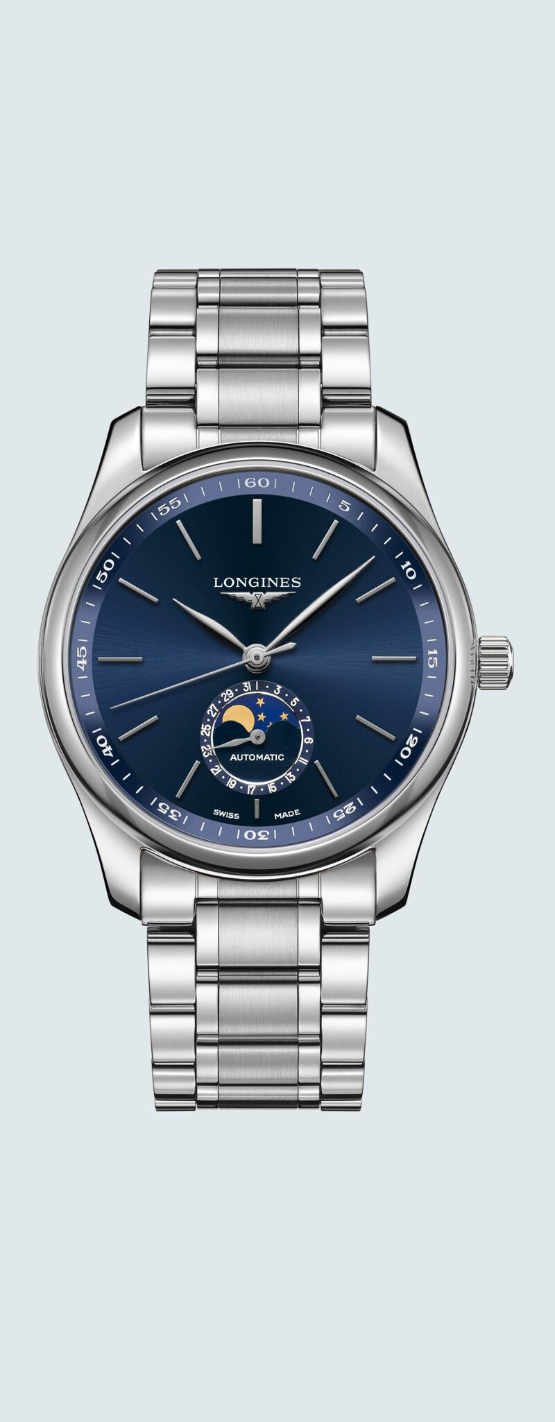 40.00 mm Stainless steel case with Sunray blue dial and Stainless steel strap - case zoom view
