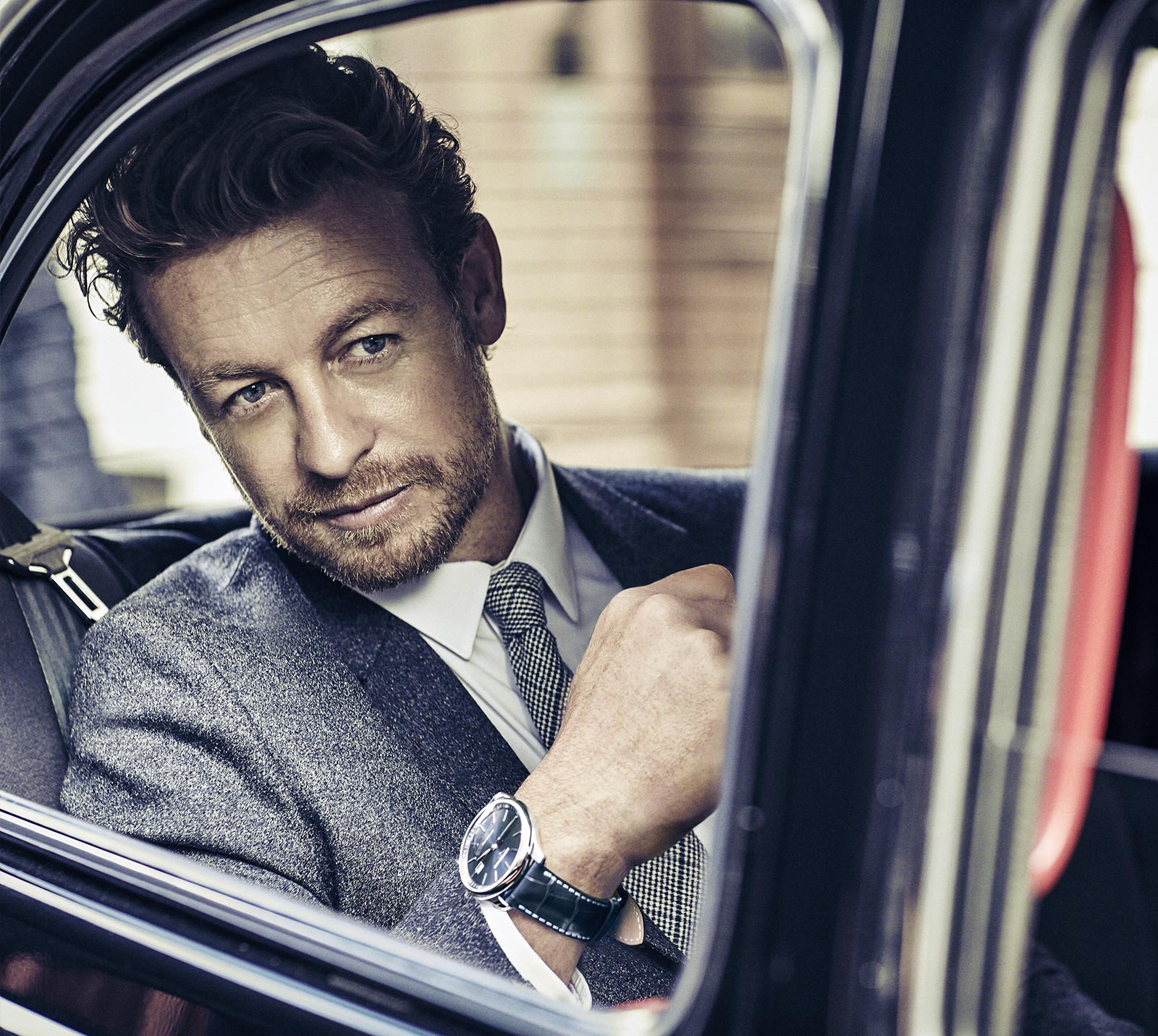 Simon Baker ambassador of the Conquest Classic watch