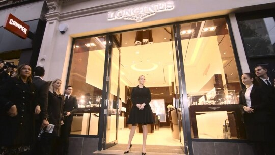 London Boutique Opening;Kate Winslet;Corporate;Longines;Watches