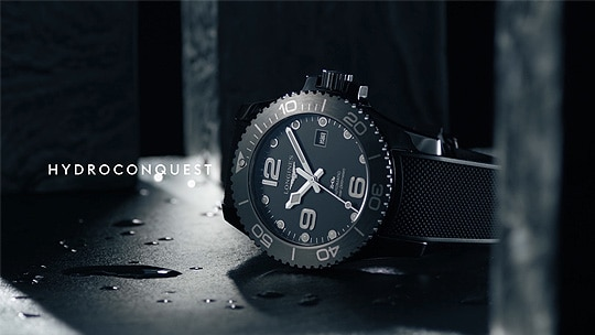 Longines all-black ceramic HydroConquest; Product; 2019