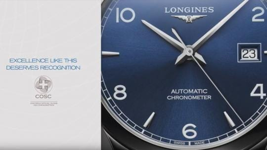 New Record Collection;Longines Watches, COSC, Watchmaking tradition