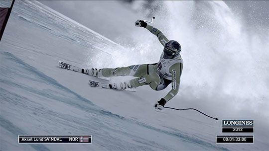 Video Longines TV ad - Timing Skiing History with Aksel Lund Svindal
