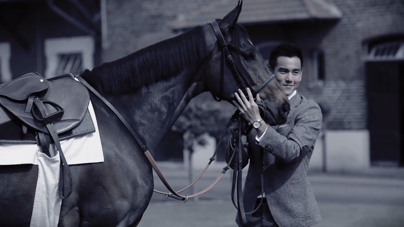 Video Behind the scenes with Longines Ambassador Eddie Peng at Chantilly