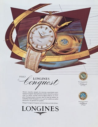 1954 longines launch conquest collection