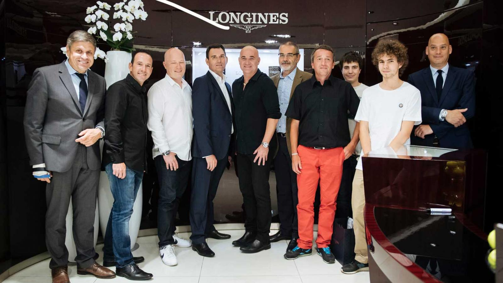 Andre Agassi celebrates his 10-year anniversary as a Longines Ambassador of Elegance