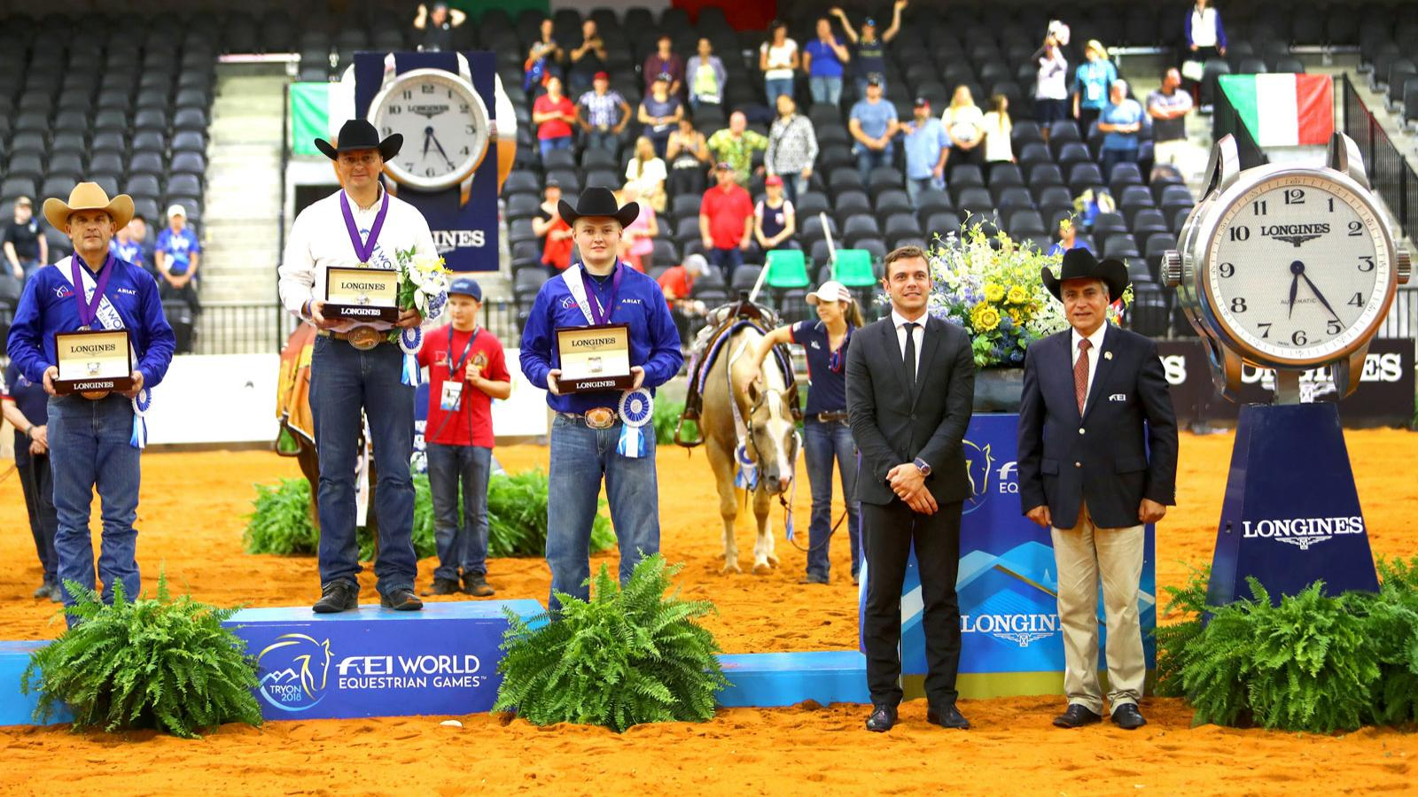 Bernard Fonck (BEL) and What a Wave claimed the Reining Individual Championship at the FEI World Equestrian GamesTM