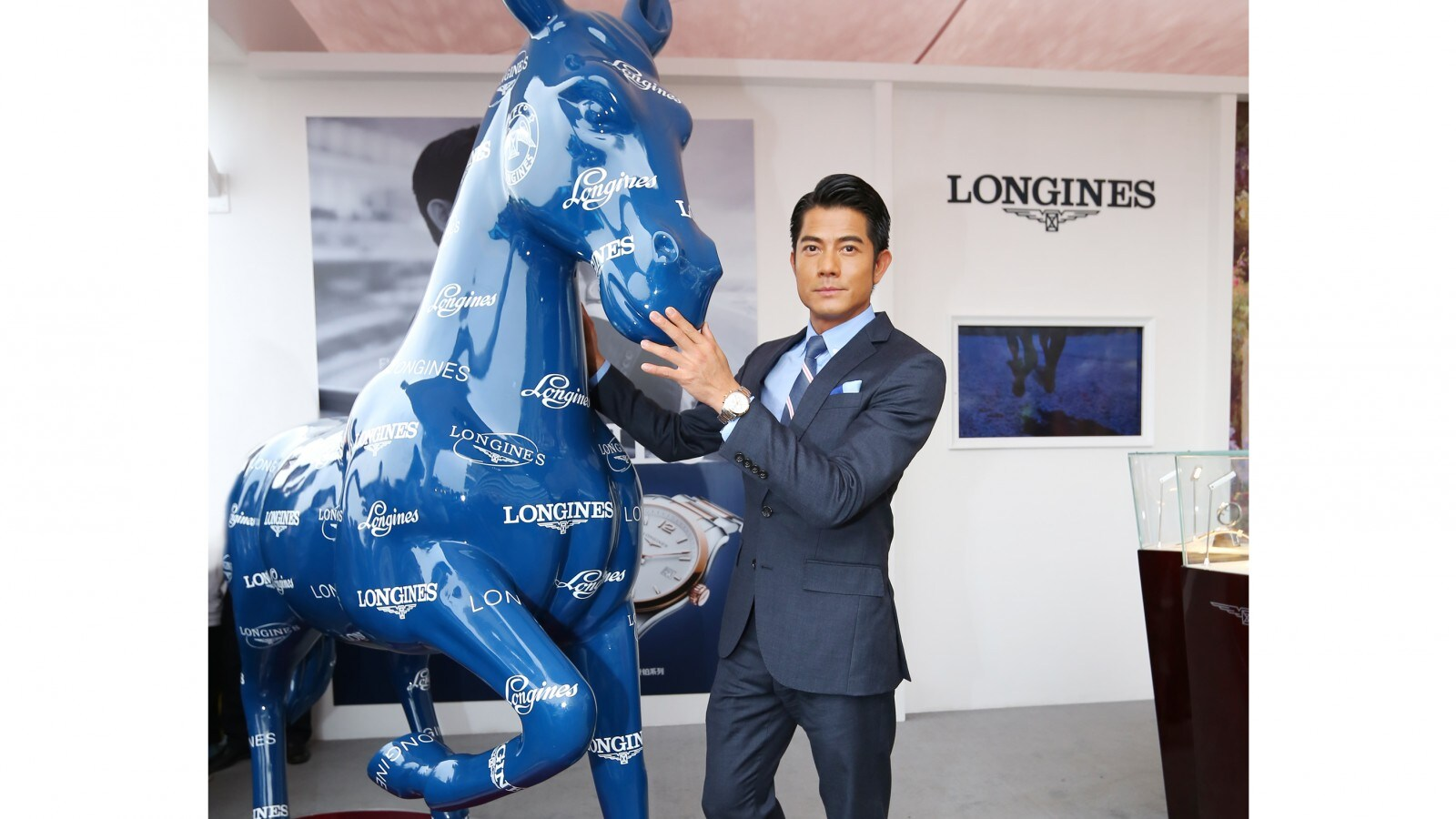 Boutique Opening in Wuhan;Aaron Kwok;elegance;Longines Boutique