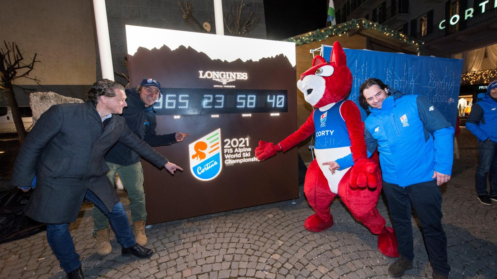365 days until Cortina 2021: new Longines digital countdown clock unveiled in Cortina