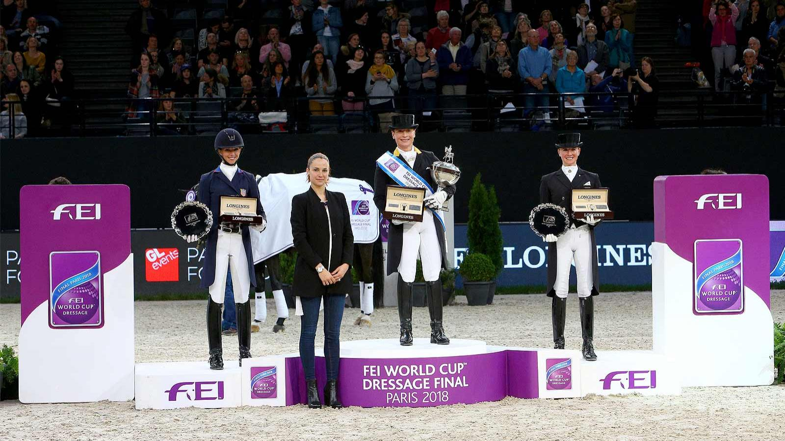 Germany; Isabell Werth; Weihegold OLD; 2018 FEI World Cup Dressage Final