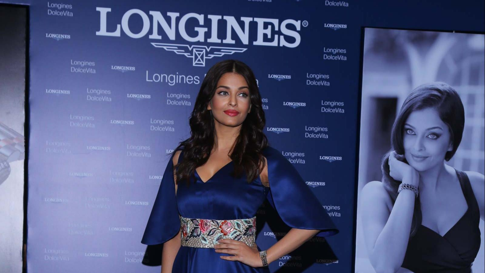 Longines opened a new boutique in India; Longines Dolce Vita steel and gold; Aishwarya Rai Bachchan; November; 2016