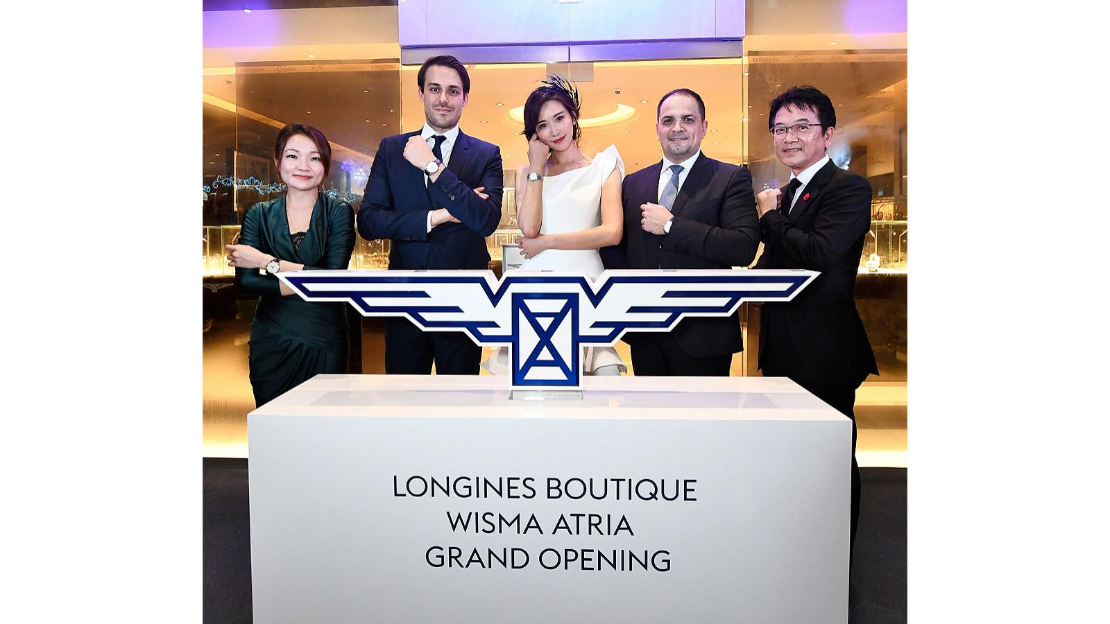 Longines launches; new boutique; Singapore; Wisma Atria; Orchard Road