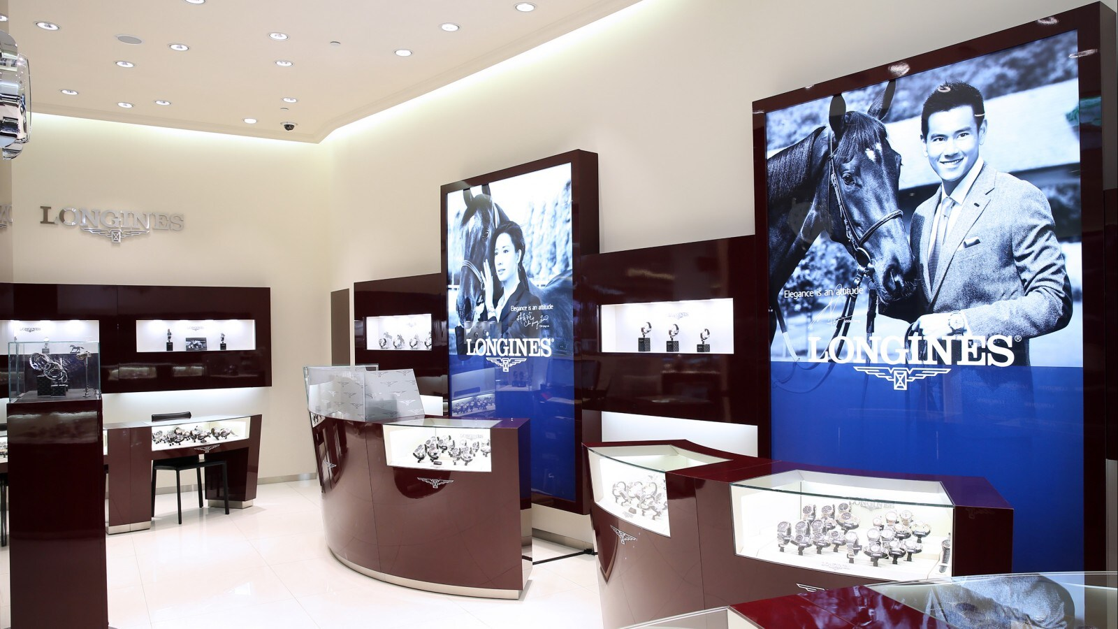 Longines opened its third boutique store in Taiwan.