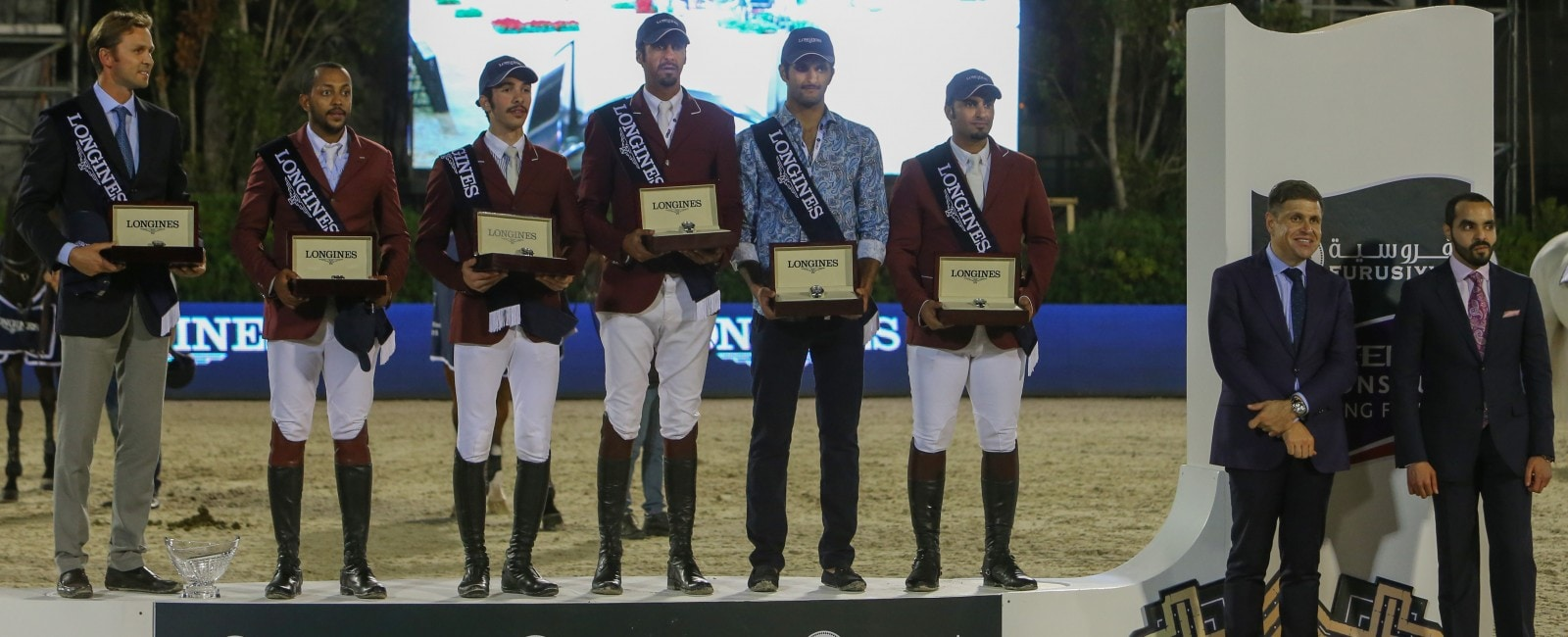 Team Qatar wins the Longines Challenge Cup at the CSIO Barcelona 2015