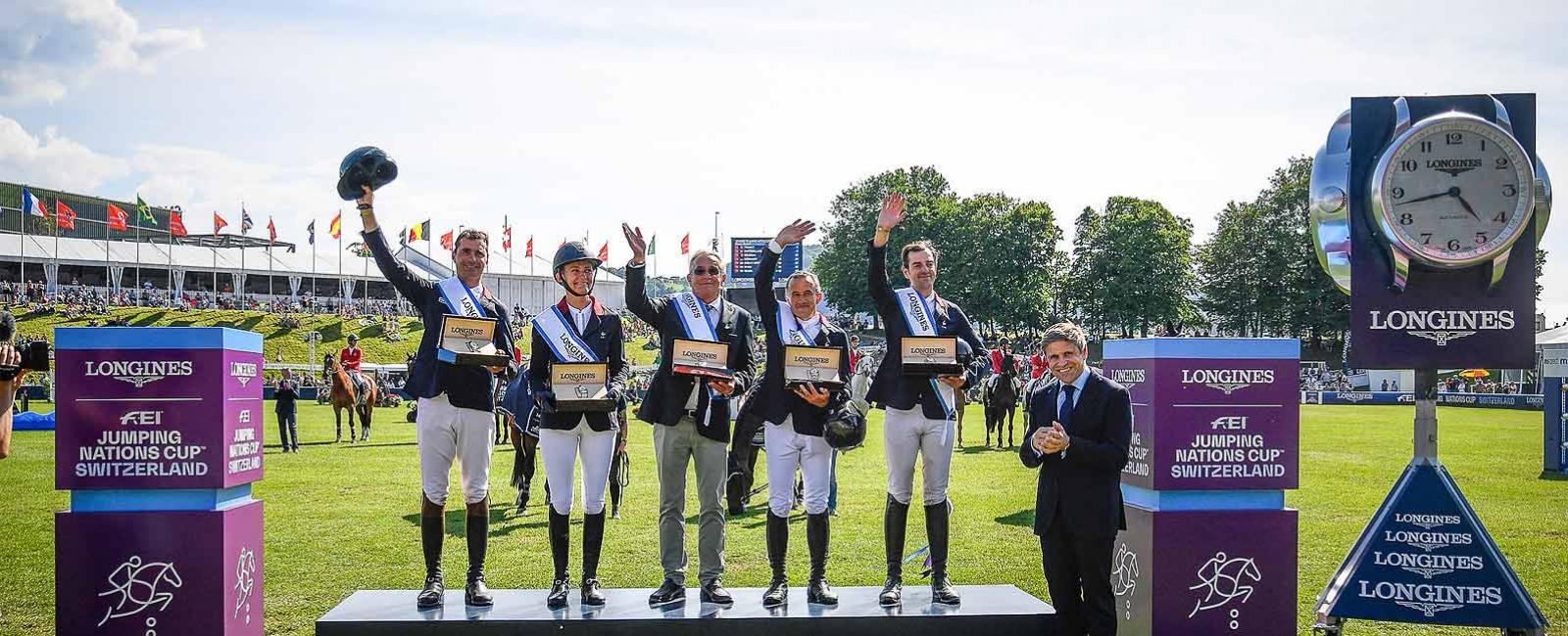 France; winner; Longines FEI Jumping Nations Cup™ of Switzerland; St. Gallen