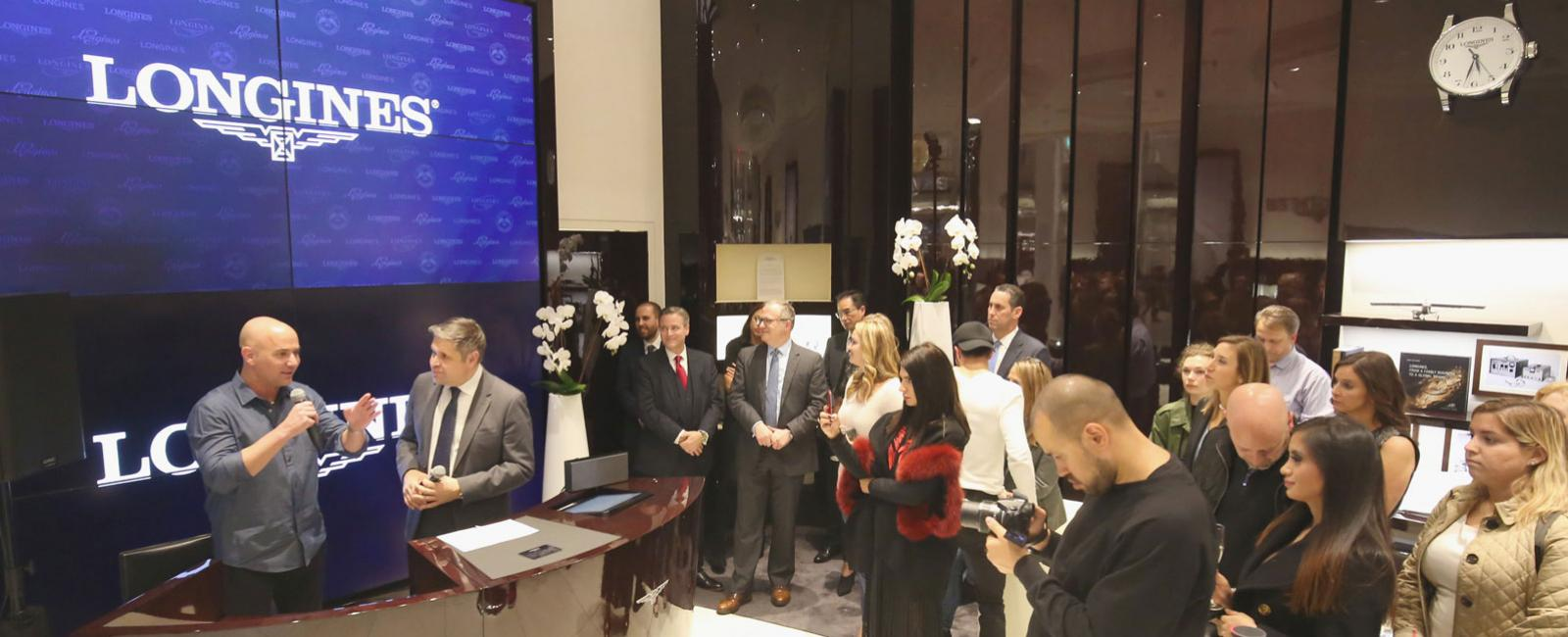 Conquest VHP launch; Miami Longines boutiques, Andre Agassi