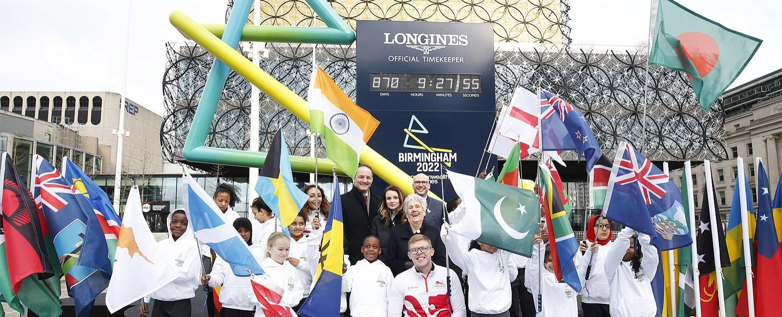 Longines; CGF; historic; multi-Commonwealth Games; Birmingham 2022; Countdown Clock