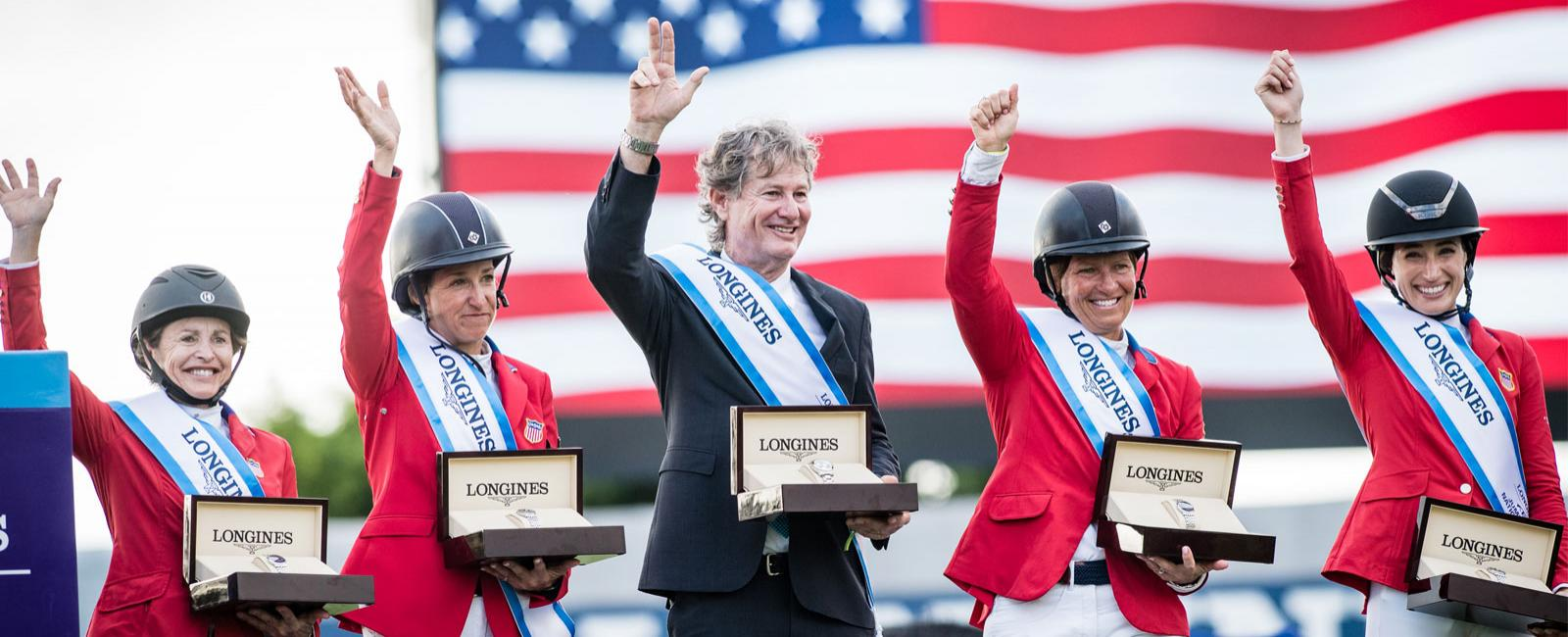 Team USA claimed victory in the first leg of the 2020 Longines FEI Jumping Nations Cup season on home soil