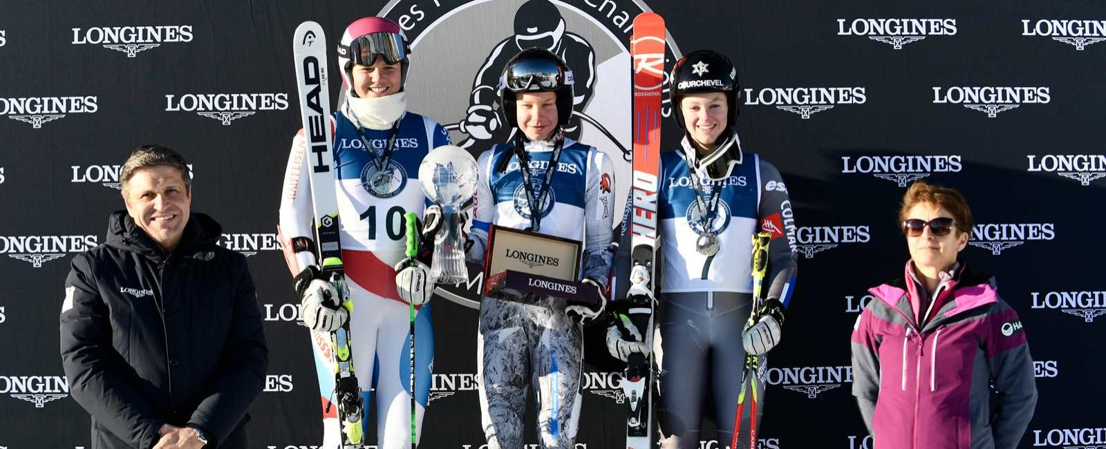 The best young female skiers gathered at the  FIS Alpine World Ski Championships St. Moritz 2017 for the Longines Future Ski Champions race;Alpine Skiing
