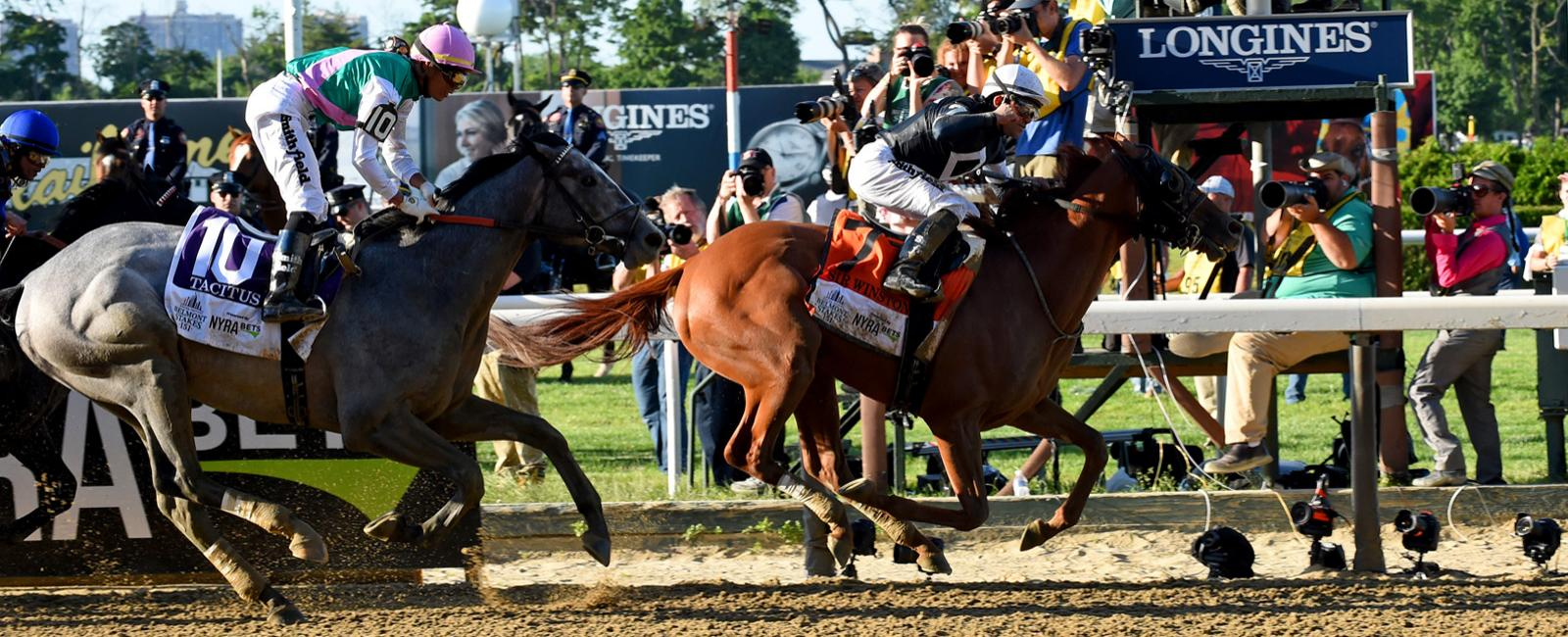 Longines times Sir Winston's victory at the 2019 Belmont Stakes
