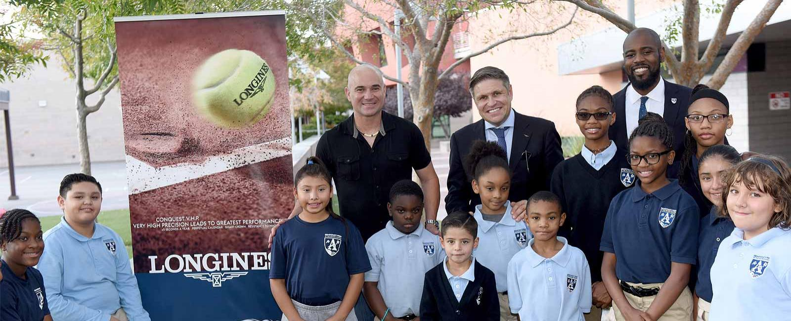 the Agassi Campus school; Las Vegas; André Agassi; 10-year partnership