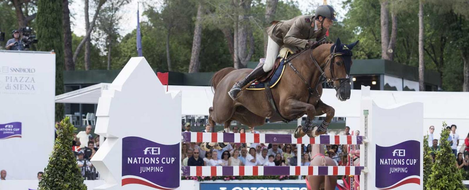 Team Italy streaks to victory at FEI Nations Cup™ Jumping presented by Longines in RomeTeam Italy streaks to victory at FEI Nations Cup™ Jumping presented by Longines in Rome, Longines, horses, victory