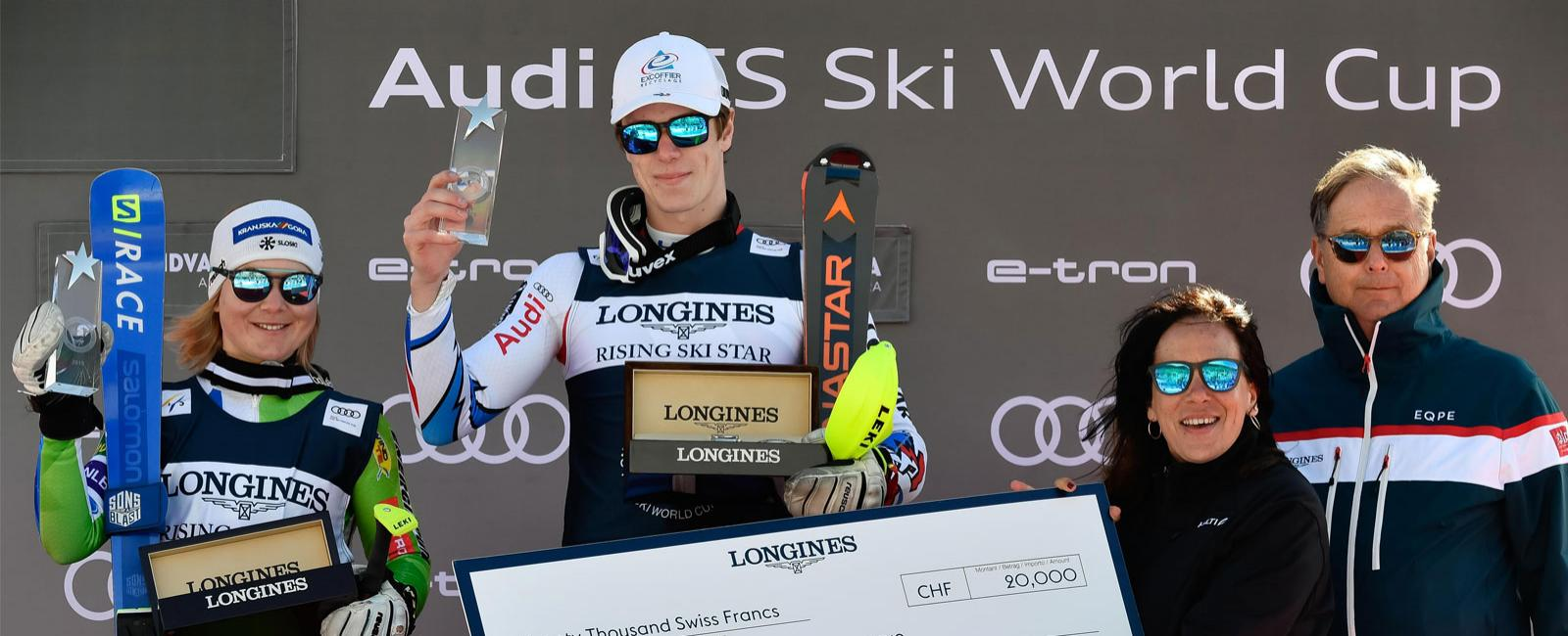 The 2019 Longines Rising Ski Stars Prizes Awarded To Meta Hrovat And Clement Noel Longines