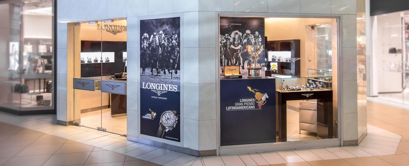 The Longines Gran Premio Latinoamericano trophy is on display in the Longines Boutique in Santiago; February; 2017