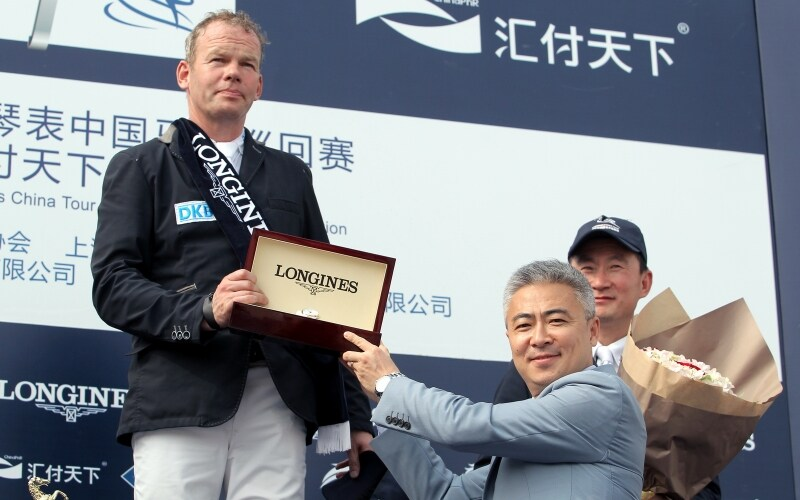 Lars Nieberg sur Double Bent remporte le Grand Prix de Shanghai du Longines China Tour 2015