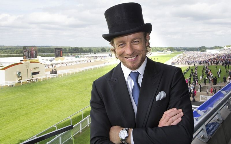 Longines Ambassador of Elegance Simon Baker at Royal Ascot for a very British Day at the Races