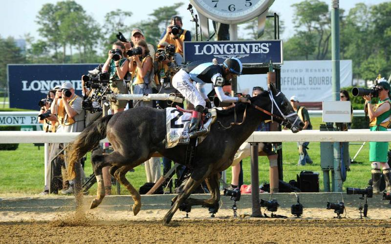 Tapwrit crossed first the finishing line at Belmont Stakes