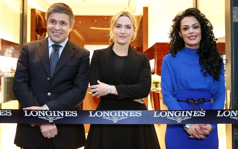 Longines officially inaugurates its first monobrand boutique in the United Kingdom in the presence of Ambassador of Elegance Kate Winslet